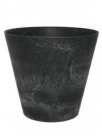 Кашпо Artstone claire pot black, чёрного цвета Диаметр — 27 см