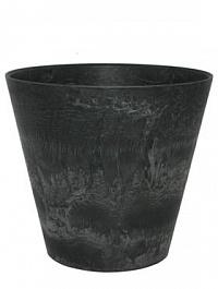 Кашпо Artstone claire pot black, чёрного цвета Диаметр — 33 см