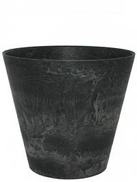 Кашпо Artstone claire pot black, чёрного цвета Диаметр — 37 см