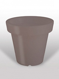 Кашпо Bloom! Holland dark grey, серого цвета (taupe, тёмно-серый) without light Диаметр — 99 см