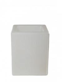 Светящееся Кашпо Bloom! Holland square grey, серого цвета Длина — 40 см