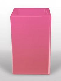 Светящееся Кашпо Bloom! Holland square розовый Длина — 50 см