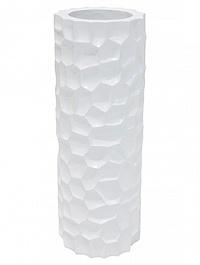 Кашпо Fleur Ami Mosiac column glossy white, белого цвета  Диаметр — 32 см