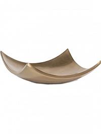 Блюдо Fleur Ami Glory deco bowl bronze, бронзового цвета Длина — 42 см Диаметр — 42 см