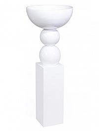 Ваза Fleur Ami Foyer white, белого цвета  Диаметр — 52 см