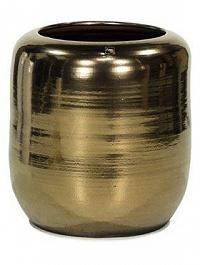 Ваза Fleur Ami Glaze vase antique-gold, под цвет золота, цвета античное золото  Диаметр — 38 см