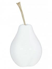 Груша декоративная Fleur Ami Pear white, белого цвета  Диаметр — 22 см