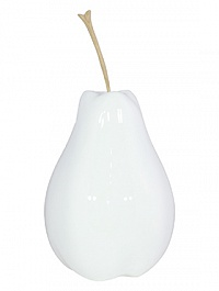 Груша декоративная Fleur Ami Pear white, белого цвета  Диаметр — 28 см