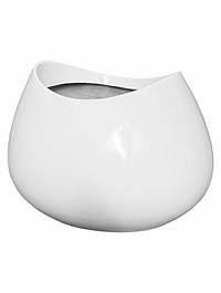 Кашпо Livingreen blob 3 polished brilliant white, белого цвета Длина — 110 см