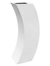 Кашпо Livingreen curvy marilyn 3 polished brilliant white, белого цвета Длина — 35 см