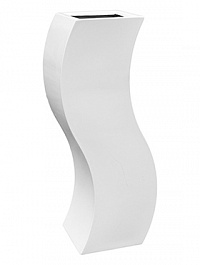 Кашпо Livingreen curvy s1 polished brilliant white, белого цвета Длина — 35 см