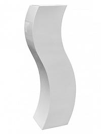 Кашпо Livingreen curvy s2 polished brilliant white, белого цвета Длина — 35 см