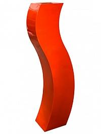 Кашпо Livingreen curvy s3 polished flame red, красного цвета Длина — 35 см