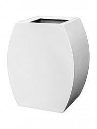 Кашпо Livingreen curvy ursula 1 polished brilliant white, белого цвета Длина — 51 см