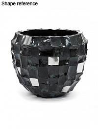 Кашпо Plants First Choice Boxer black, чёрного цвета round  Диаметр — 110 см