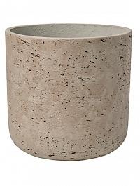 Кашпо Pottery Pots Eco-line charlie M размер grey, серого цвета washed  Диаметр — 18 см