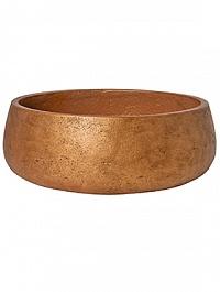 Кашпо Pottery Pots Eco-line eileen XL размер metalic copper  Диаметр — 39 см