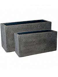 Кашпо Pottery Pots Eco-line jort laterite grey, серого цвета (2) Длина — 100 см