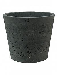 Кашпо Pottery Pots Eco-line mini bucket L размер black, чёрного цвета washed  Диаметр — 23 см