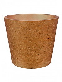 Кашпо Pottery Pots Eco-line mini bucket L размер metallic copper  Диаметр — 23 см