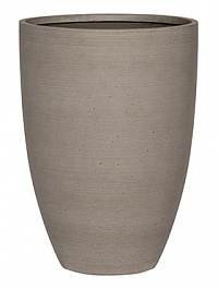Кашпо Pottery Pots Refined ben L размер clouded grey, серого цвета  Диаметр — 40 см