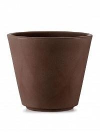 Кашпо TeraPlast Ribeira 60 bronze, бронзового цвета  Диаметр — 57 см