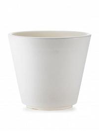 Кашпо TeraPlast Ribeira 60 white, белого цвета  Диаметр — 57 см
