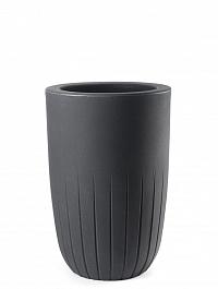 Кашпо TeraPlast Valentino 70 anthracite, цвет антрацит  Диаметр — 42 см