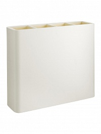 Кашпо TeraPlast Divio self watering 80 white, белого цвета Длина — 90 см