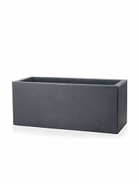 Кашпо TeraPlast Schio Cassa self watering 80 anthracite, цвет антрацит Длина — 80 см