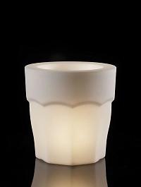 Светящееся Кашпо TeraPlast Spritz light indoor 38 neutral  Диаметр — 38 см