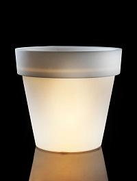 Светящееся Кашпо TeraPlast Standard One light outdoor 80 neutral  Диаметр — 80 см