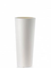 Кашпо TeraPlast Schio Cono 90 white, белого цвета  Диаметр — 40 см