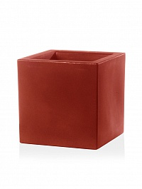Кашпо TeraPlast Schio Cubo 50 cardinal red, красного цвета Длина — 50 см
