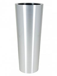 Кашпо Superline Alure conica topper aluminium brushed lacquered  Диаметр — 39 см Высота — 99 см