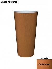 Кашпо Superline Cortenstyle® basic conica  Диаметр — 40 см Высота — 75 см