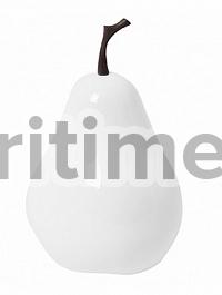 Груша декоративная Pear glossy white, белого цвета XS размер  Диаметр — 15 см Высота — 24 см