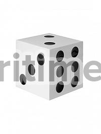 Игральные кости декоративные Fiberstone jan des bouvrie glossy white, белого цвета jan dice XS размер Длина — 15 см  Высота — 15 см