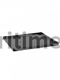 Поддон Pottery Pots Fiberstone saucer block 50, black, чёрного цвета Длина — 53 см  Высота — 4 см