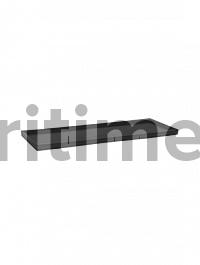 Поддон Pottery Pots Fiberstone saucer jort 40, black, чёрного цвета Длина — 83 см  Высота — 4 см