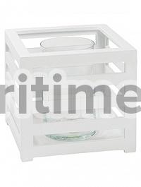 Подсвечник Fiberstone jan des bouvrie glossy white, белого цвета lantern S размер Длина — 30 см  Высота — 28 см