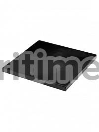 Подставка Fiberstone accessoires glossy black, чёрного цвета topper S размер (thin) Длина — 25 см  Высота — 25 см