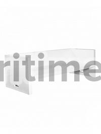 Скамья Fiberstone jan des bouvrie glossy white, белого цвета bench Длина — 182 см  Высота — 65 см