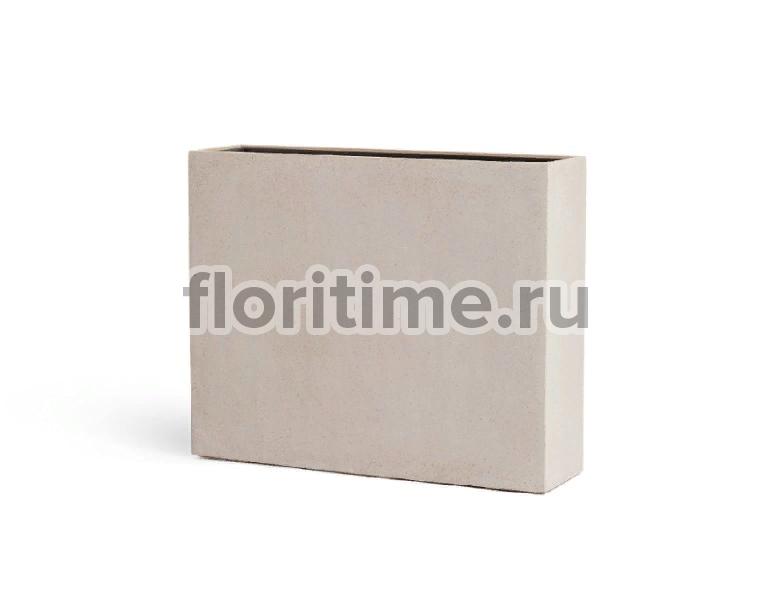 Кашпо Effectory Beton высокий девайдер : белый песок