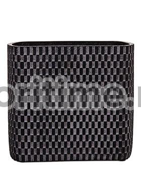 Кашпо Capi nature vase ellips wave ii black