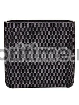Кашпо Capi nature vase ellips wave i black