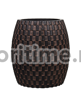 Кашпо Capi nature vase elegant wide iii wave brown
