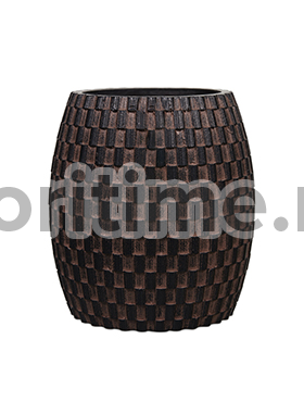 Кашпо Capi nature vase elegant wide ii wave brown