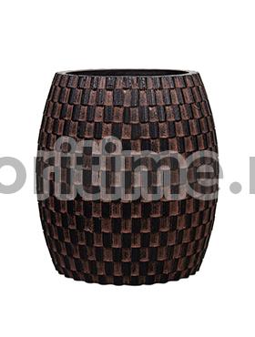 Кашпо Capi nature vase elegant wide i wave brown