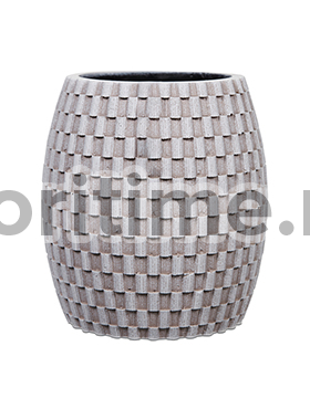 Кашпо Capi nature vase elegant wide ii wave ivory